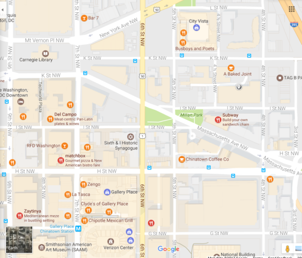 Nearby Restaurants Google Map