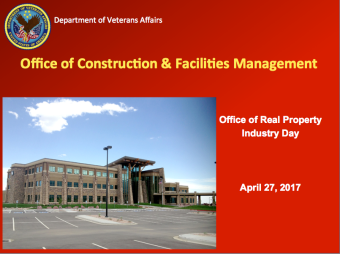 Office of Construction and Facilities Management: Office of Real Property; April 27 Virtual Industry Day